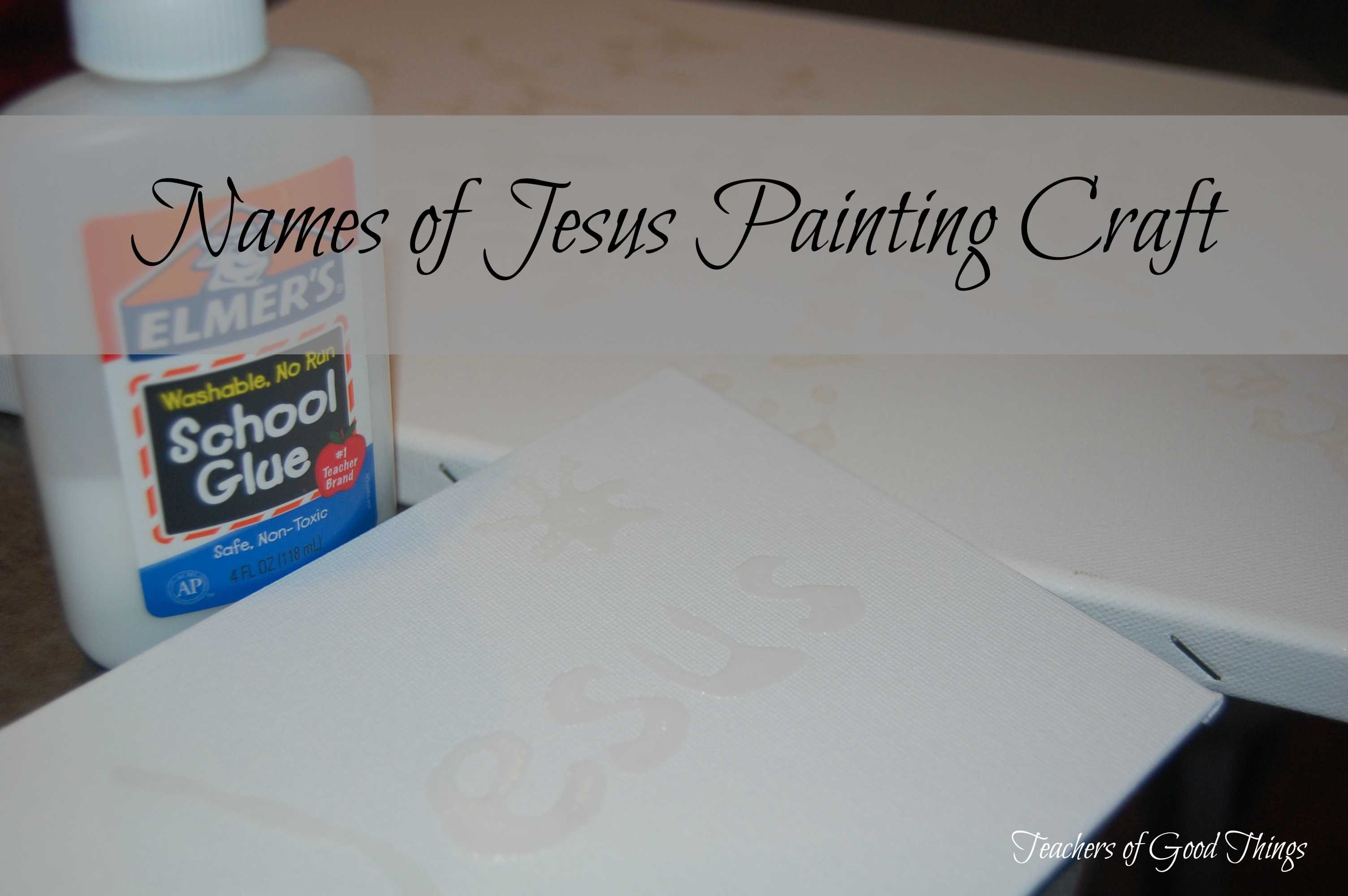 Names of Jesus Painting Craft