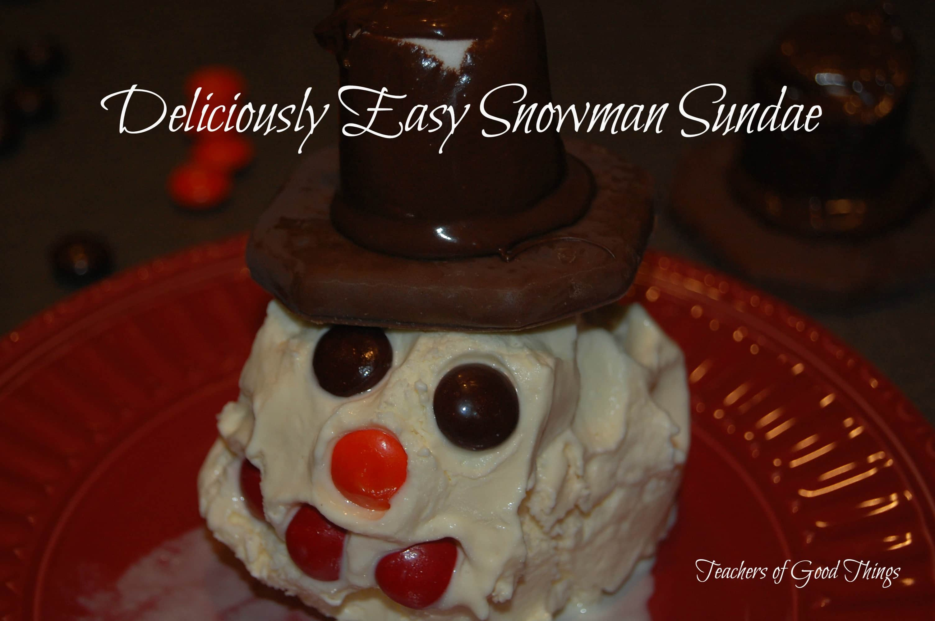 Deliciously Easy Snowman Sundae