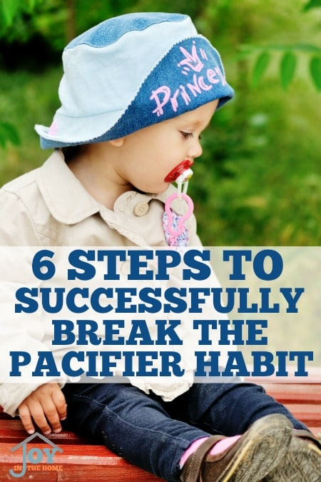 6 Steps to Successfully Break the Pacifier Habit