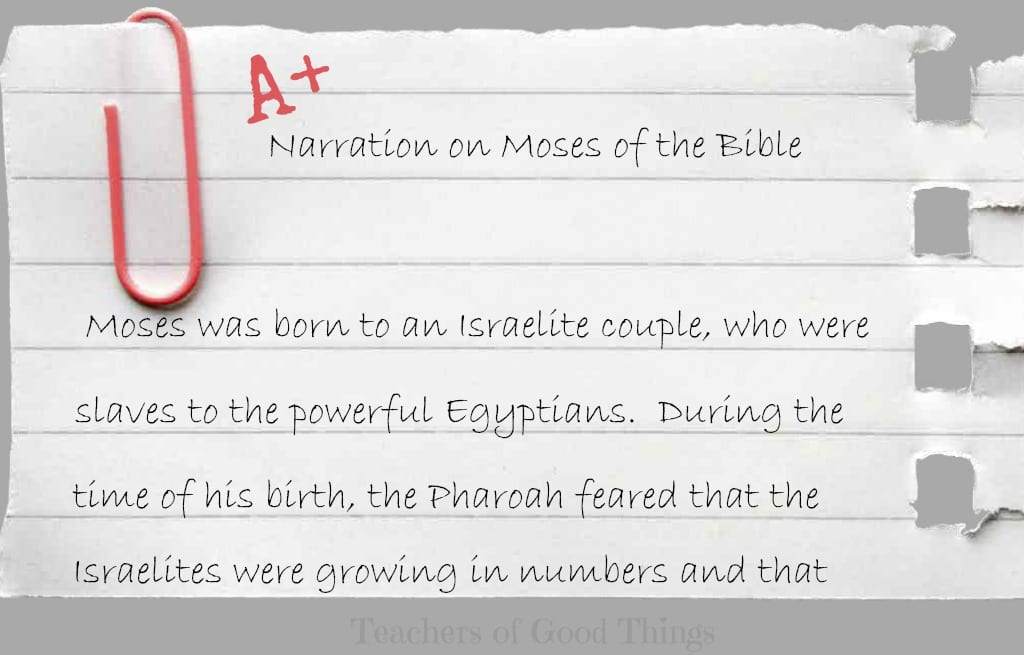 Narration on Moses of the Bible