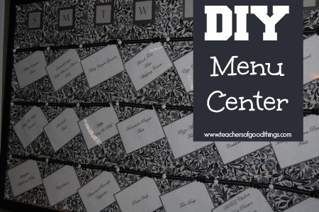 DIY Menu Center