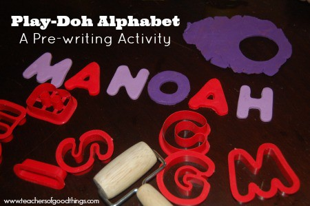 Play-Doh Alphabets: A Pre-writing Activity