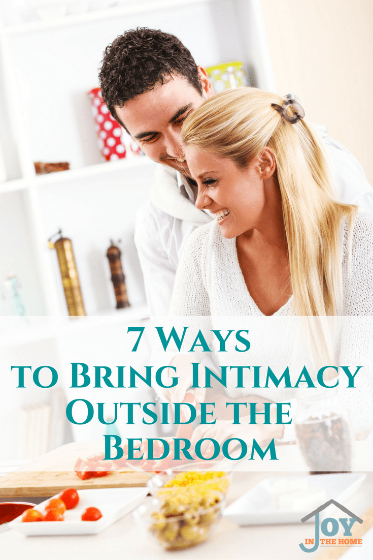 Intimacy is so important for the success of a relationship. Normally it is left for the bedroom, but glimpses of intimacy throughout the day are powerful.