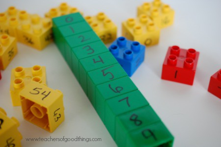 How to Teach Math Facts with Legos www.joyinthehome.com
