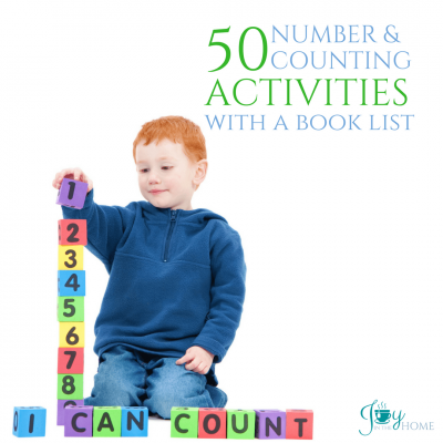 50 Number & Counting Activities with Book List | www.joyinthehome.com