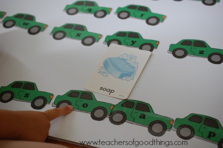How to Teach Spelling with Cars - learn phonics www.joyinthehome.com.jpg
