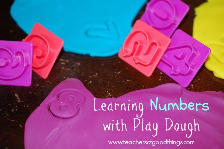 Learning Numbers with Play Dough