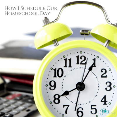 How I Schedule Our Homeschool Day - Inside look of how to organize your day for an easier homeschool routine. | www.joyinthehome.com