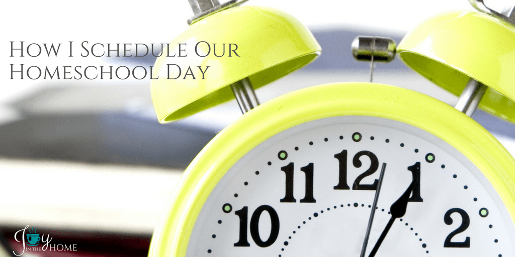 How I Schedule Our Homeschool Day - With nearly 20 years of homeschooling, I share how our schedule works perfectly to get it all done. | www.joyinthehome.com