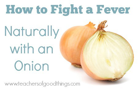 How To Fight a Fever Naturally with an Onion | www.joyinthehome.com