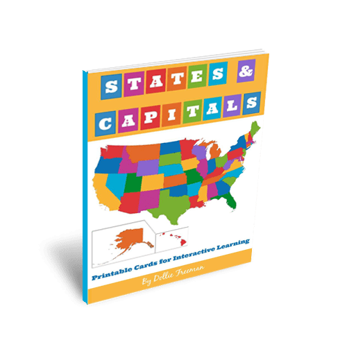 States and Capitals: Printable Cards for Interactive Learning | www.joyinthehome.com