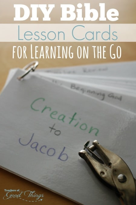 DIY Bible Lesson Cards for Learning on the Go
