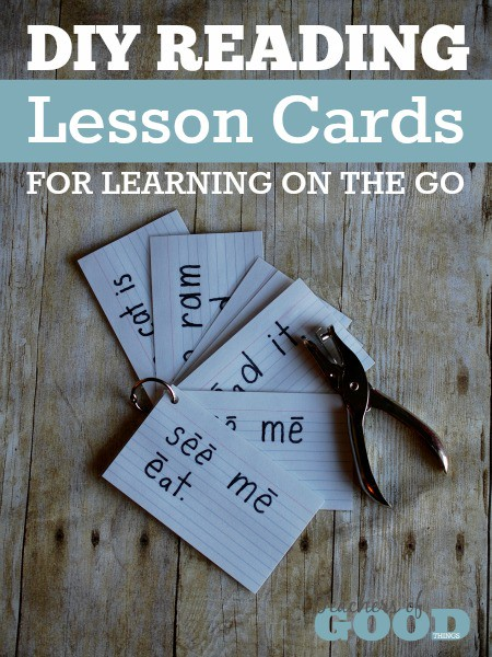 DIY Reading Lesson Cards For Learning On the Go