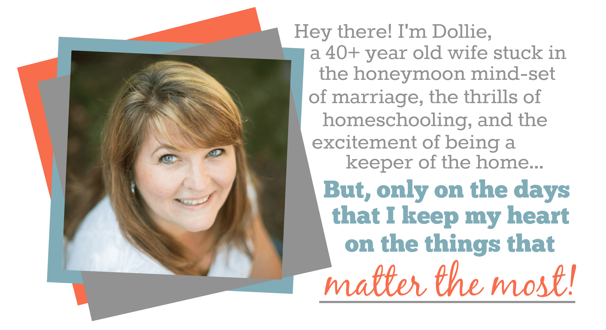 Dollie Freeman from Joy in the Home - Finding the Good Things in the Everyday of Home, Family & Homeschooling | www.joyinthehome.com
