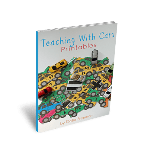 Teaching with Cars Printables by Dollie Freeman