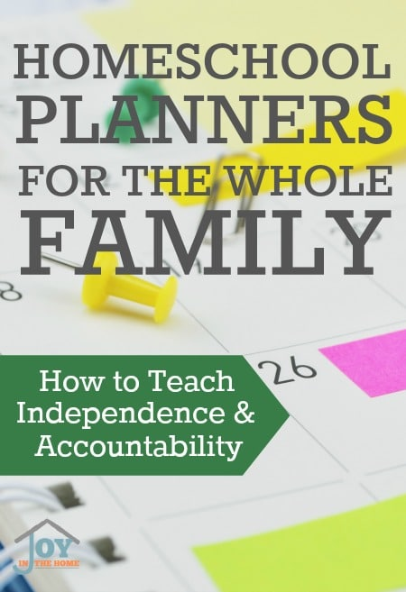 Homeschool Planners for the Whole Family