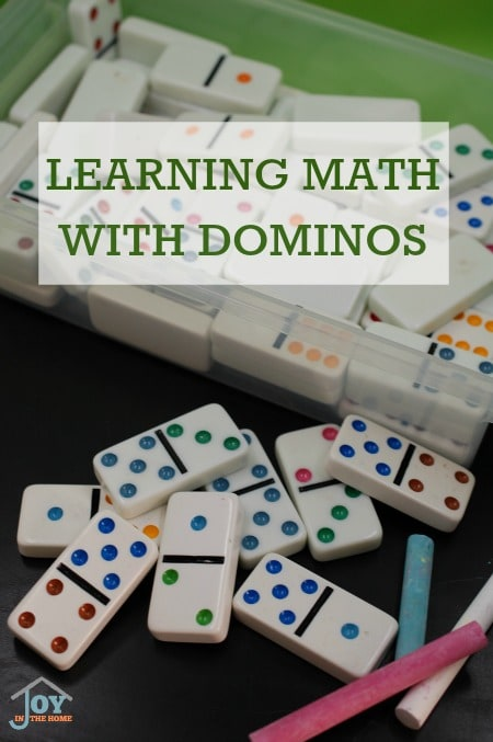 Learning Math with Dominos - Kids will love this hands-on way to practice their math facts knowledge without the normal use of workbooks. | www.jointhehome.com