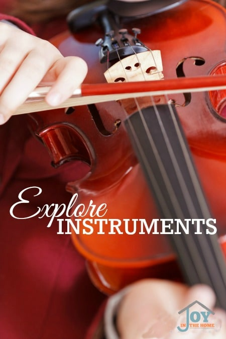 Explore Instruments - Part of the 31 Days of Exploring Free Afternoon Activities | www.joyinthehome.com
