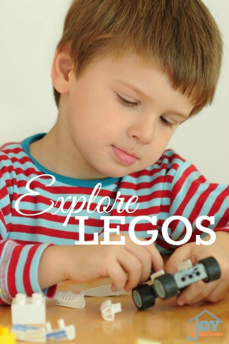 Explore Legos - Part of the 31 Days of Exploring Free Afternoon Activities | www.joyinthehome.com