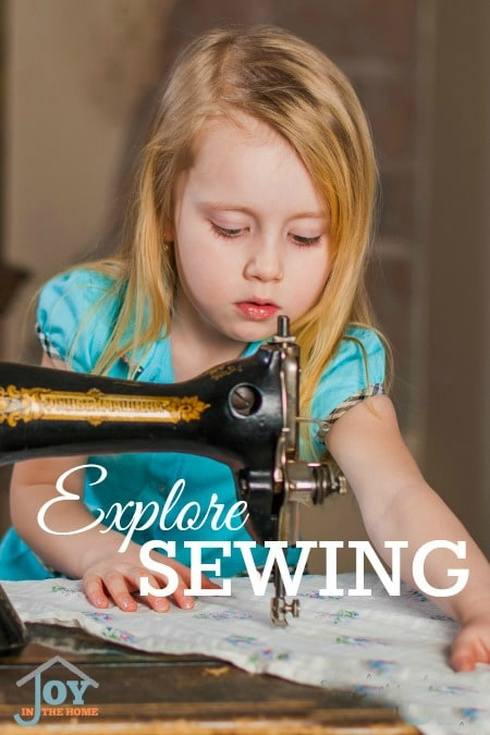 Explore Sewing - Part of the 31 Days of Exploring Free Afternoon Activities | www.joyinthehome.com