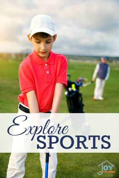 Explore Sports - Part of the 31 Days of Exploring Free Afternoon Activities | www.joyinthehome.com