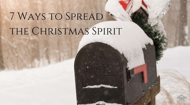 7 Ways to Spread the Christmas Spirit - Want to help your family ponder the reason for the season? These ways will help you do just that! | www.joyinthehome.com