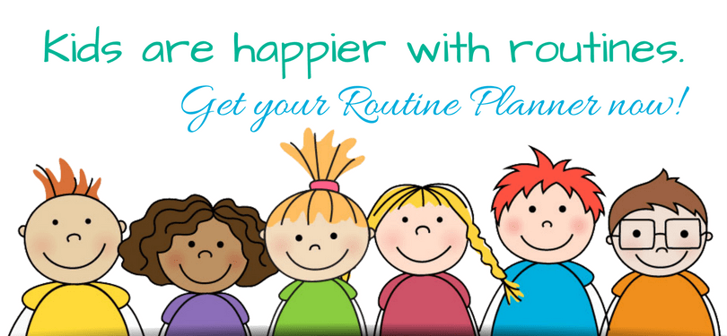Kids are happier with routines.-3