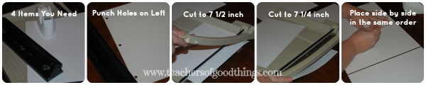 Directions for making a Binder Book