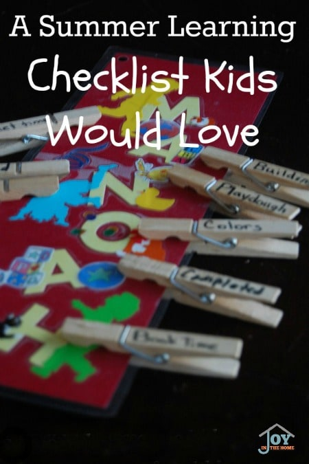 A Summer Learning Checklist Kids Would Love