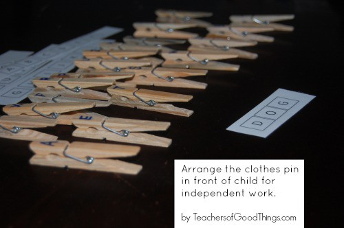 Alphabet Clothes Pins Learning Box (with printables) www.joyinthehome.com