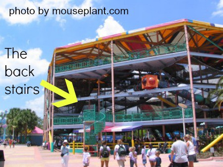 netclimb's back stairs at Sea World by mouseplant.com
