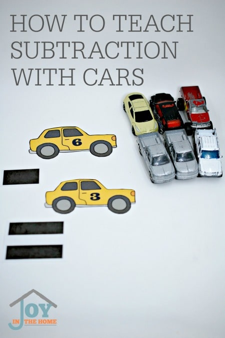 How to Teach Subtraction with Cars