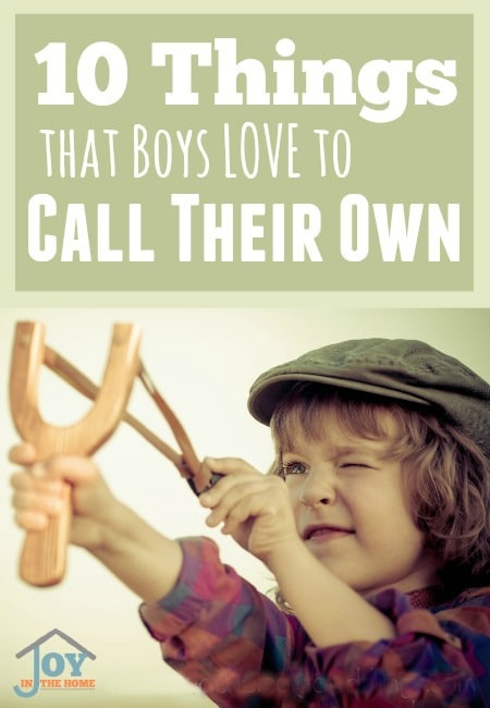 10 Things that Boys Love to Call Their Own   www.joyinthehome.com