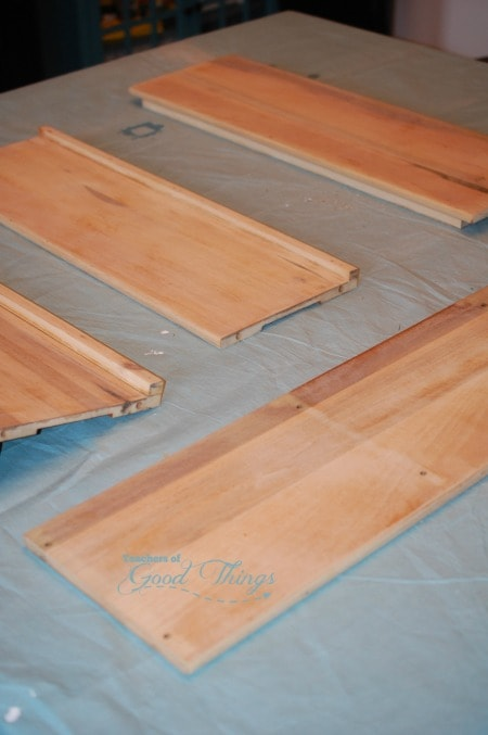 how to paint stained wood | www.joyinthehome.com