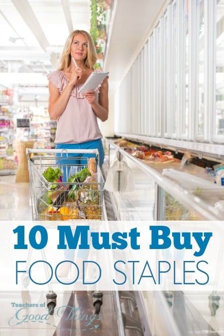 10 Must Buy Food Staples - Save on your grocery budget and in meal planning with these 10 items . | www.joyinthehome.com