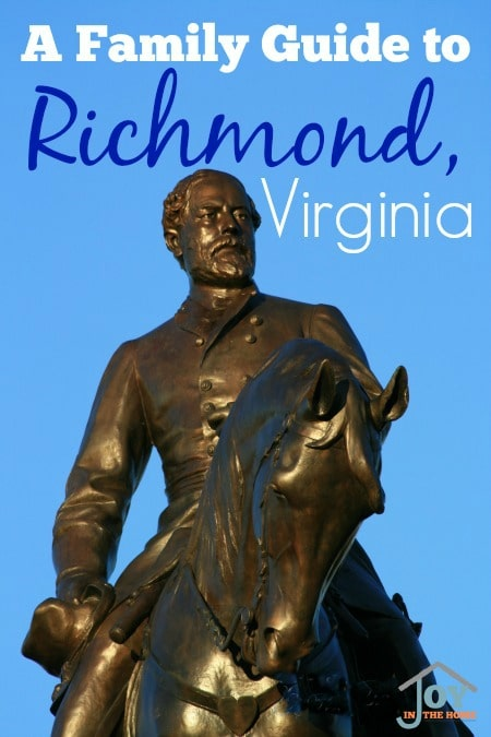 A Family Guide to Richmond Virginia - The beautiful, history filled city of Richmond has so many opportunities for adventure. | www.joyinthehome.com
