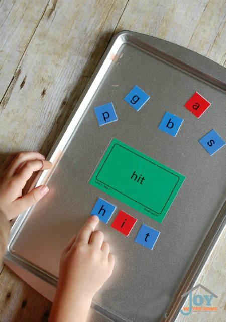 Reading practice with hands-on spelling fun. | www.joyinthehome.com