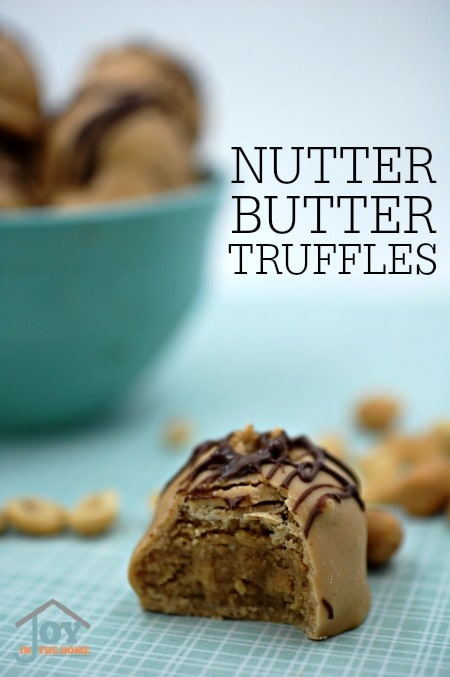 Nutter Butter Truffles - These are SO delicious and incredibly easy to make. No baking necessary! Get your peanut butter fix with these yummies! | www.joyinthehome.com
