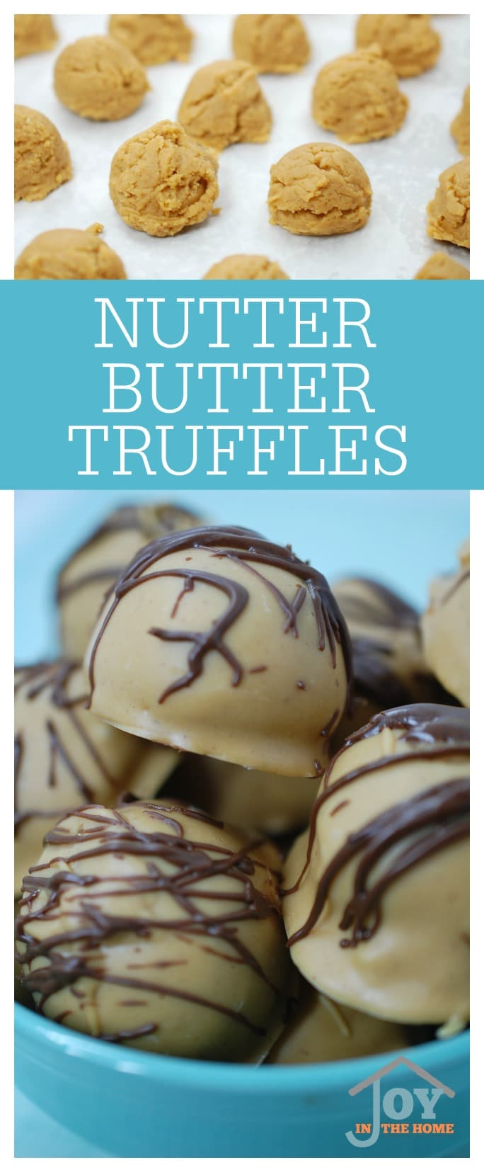 Nutter Butter Truffles - Easy to make, and deliciously moist! | www.joyinthehome.com