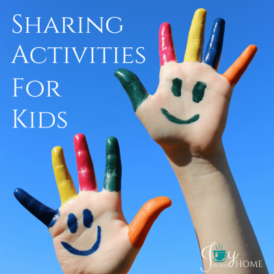 Sharing activities for kids to build character. | www.joyinthehome.com